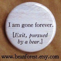 exit pursued by a bear Shakespeare by beanforest on Etsy