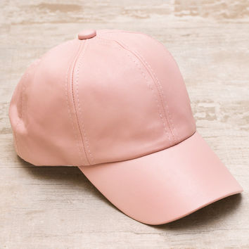 Alabama Shakes Pleather Hat - Blush