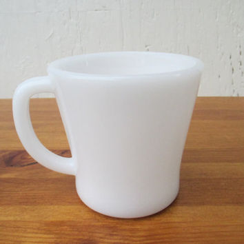 Glasbake Milk Glass Mug, Vintage 1960s