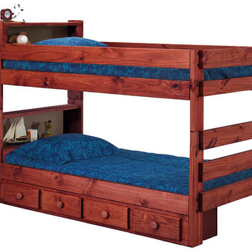 Ameriwood Twin over Twin Bookcase Bunk Bed