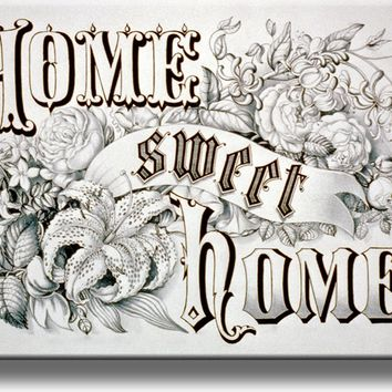Home Sweet Home Sign Picture on Acrylic Wall Art Décor Framed Ready to Hang!