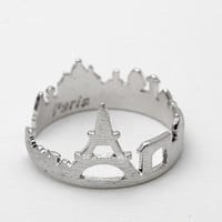 paris ring, paris skyline, skyline jewelry, paris, france, skyline