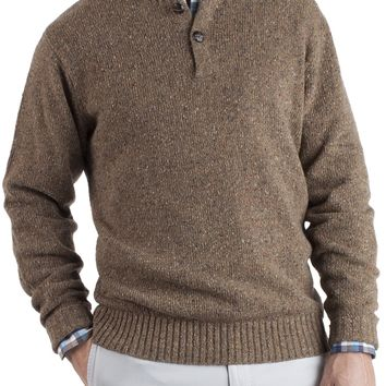 Donegal Two-Button Henley - Pick Stitch Sweaters - Sweaters - Clothing - Men | Peter Millar