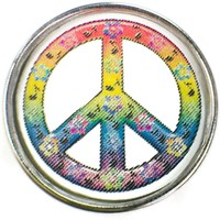 Perfect Peace Peace Sign 18MM - 20MM Fashion Snap Jewelry Charm New Item