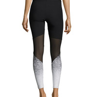 Heroine Sport Tracking Ombre Performance Leggings, Black Pattern