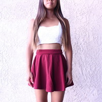 Maroon Skater Skirt from Avess Apparel