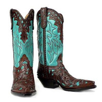 Hand tooled cowboy boot made to order any style from gallery or send picture and will replicate them.