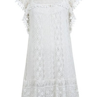 Pom Pom Lace Dress - Dresses  - Apparel