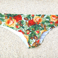Roses Bikini Bottom Low-Rise Panties