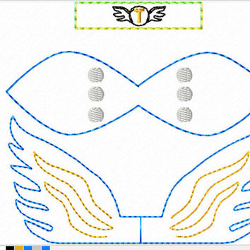 DIGITAL FILE Lightning God Inspired 3D Felt Bow Felt Clippie In the Hoop Embroidery Design File