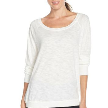 Women's Alternative Relaxed Slub Pullover Top,