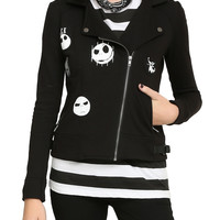The Nightmare Before Christmas Jack Heads Moto Jacket