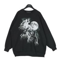 Wolves Howling Printed Pullover