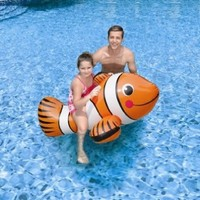 """Blue Wave Clown Fish Inflatable Ride-On Pool Toy, 67"""""""