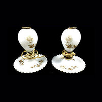 Lamps Vintage Pair of White Glass (Milk glass) Decor Lamps Beautiful ! Free Shipping!!