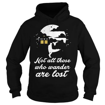 Whovian not all those who wander are lost shirt Hoodie