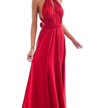 Sexy Women Multiway Wrap Convertible Boho Maxi Club Red Dress Bandage Long Dress Party Bridesmaids Infinity Robe Longue Femme
