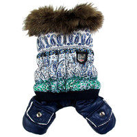 Thick Warm Jacket Winter Dog Clothes Pet Coat Clothing Hooded Jumpsuit Warm Clothes For Dogs Free Shipping