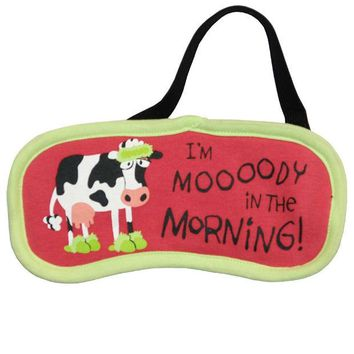 DCCKIS3 Cow Moody in the Morning Sleep Mask