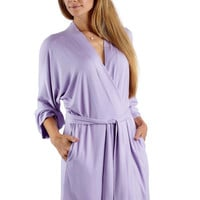 Bamboo jersey robe - lavender - knit robe - ready to ship
