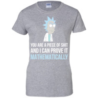 Rick T-shirt and morty T-shirt - science fiction funny Shirt-01  Ladies Custom 100% Cotton T-Shirt