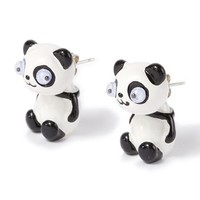 Panda Front and Back Earrings  | Claire's