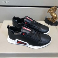 Prada Men Casual Shoes Boots fashionable casual leather