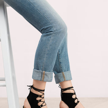 Larina Suede Lace Up Heel