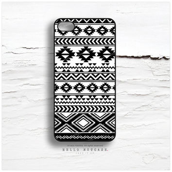 iPhone 5C Case Geometric Tribal, TOUGH iPhone 5s Case, Tribal iPhone 4 Case, iPhone 4s Case, Black White iPhone Case, Geometric iPhone 5 N16