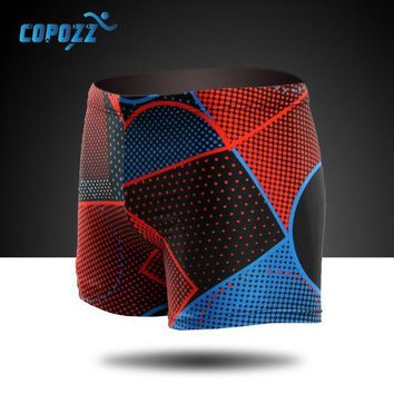 2016 Copozz New Breathable Men Swimwear Swimsuits Men's Boxer Diving Swimming Shorts Trunks Swim Briefs