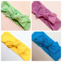SALE//GRAB BAG/4 Top Knot Headwraps/ Summer Accessories/ Knotted Headbands