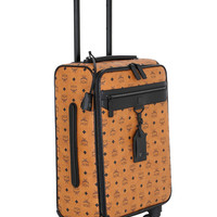 Tan Vegan Leather Carry-On Luggage by MCM