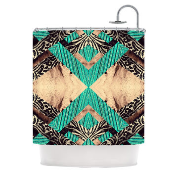 "Alveron ""Teal Woven Paisley"" Shower Curtain"