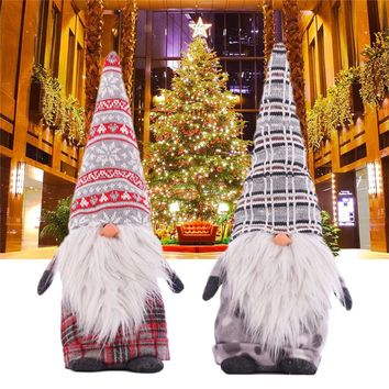 1pc Funny No Face Santa Claus Doll Big Nose Christmas Doll Cartoon Christmas Decorations for Home Kids New Year Gift