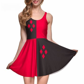 Digital Printed harley quinn skater dress