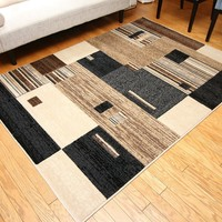 4207 Beige Contemporary Area Rugs