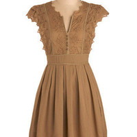 Pianola Dress in Brown