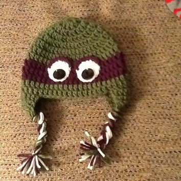 TMNT Crochet Beanie - all sizes - made to order