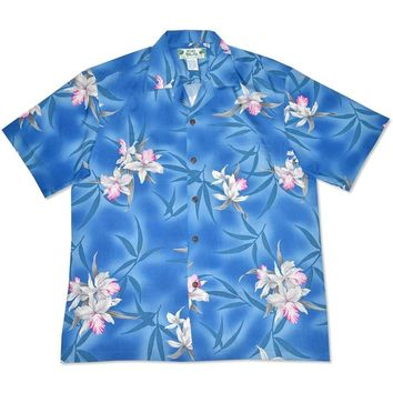 poipu blue hawaiian rayon shirt