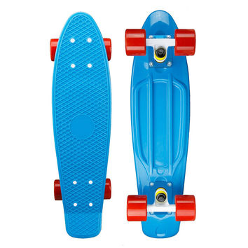 Light Blue Penny Style Cruiser Board 22 inch Plastic Skateboard Complete