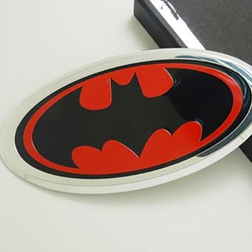 Batman Dark Knight gift Christmas SUKO Metal Hero Batman Logo Emblem Decal Sticker Car Styling Fender Gas Tank Hood Decoration Badge Fit For Bmw Ford Auto parts AT_71_6