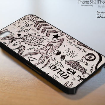 One Direction Tattoos Art - iPhone 4 4S iPhone 5 5S 5C and Samsung Galaxy S3 S4 Case