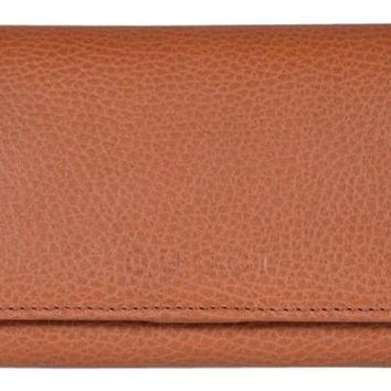 Gucci Women's Leather Continental Flap Wallet 346058 , Saffron