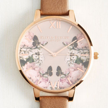Yours, Mine, and Hours Watch in Taupe | Mod Retro Vintage Watches | ModCloth.com