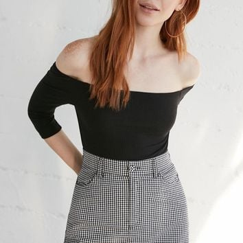PS Basics by Pacsun Sweet Ribbed Off-The-Shoulder Top at PacSun.com