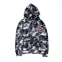 2017 New Fashion Snow Camo Anti Social Social Club Hoodie Men Hip Hop Skateboard Sweatshirt Men Hoodies Anti Social Social Club