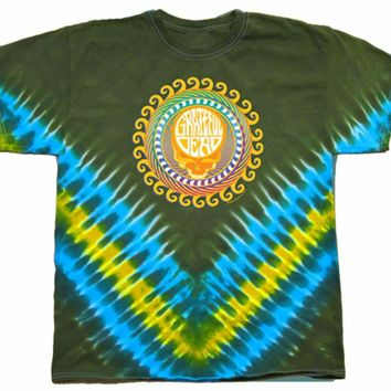 Mens Grateful Dead Orange Sunshine Tie Dye T-Shirt