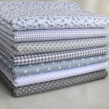 """Sewing Gray 7 Assorted Cotton Pre Cut 10"""" Squares Quilt Fabric"""