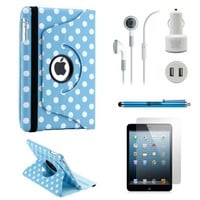 GEARONIC TM iPad Mini 5-in-1 Accessories Bundle Rotating Case for Business and Travel, Green by GEARONIC TM