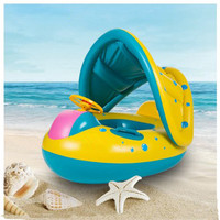 Inflatable Round Toddler Baby Ring Swimming Pool Accessories float seat plastic piscina with canopy for newborn